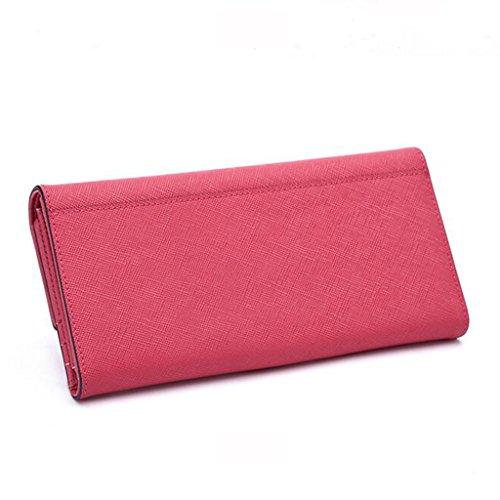 Bleu en Taille Couleur Portefeuille 5 10Cm Portefeuille Cuir Occasionnel de Cuir Pink Multifonctions Femmes 5 d'embrayage Portefeuille des en 19 Générique Femme 2 de Pochette BxqaEwgPRg