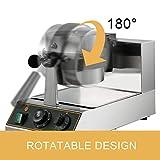 VBENLEM 110V Commercial Round Waffle Maker Nonstick