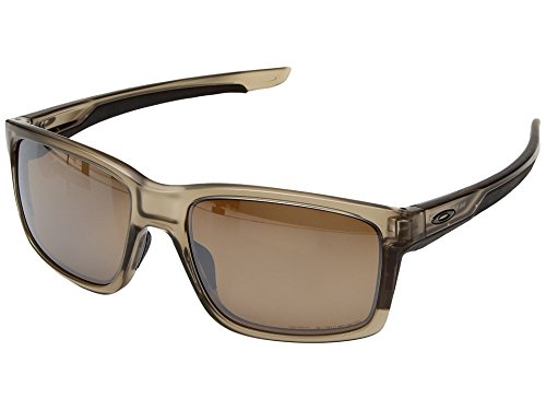 Oakley Mainlink Polarized Sunglasses, Matte Sepia/Tungsten Iridium, One - Wayfarer Oakley Sunglasses