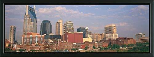 Tn Nashville Framed (Easy Art Prints Panoramic Images's 'Skyline Nashville TN' Premium Framed Canvas Art - 36