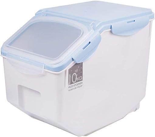 LSX - Pet Bowl Caja de comida para perros Barril de almacenamiento sellado Barril de comida para gatos Caja de almacenamiento a prueba de humedad Tanque de almacenamiento Almacenamiento de mascotas Ba: