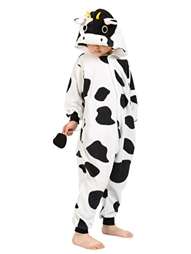 BELIFECOS Childrens Cow Costumes Onesies Kids Cosplay Homewear (Cow Girls Costume)