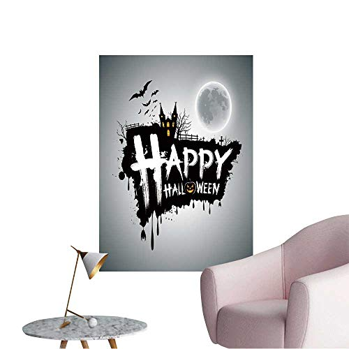 Vinyl Wall Stickers Happy Halloween Message Design Background,Vector Perfectly Decorated,32