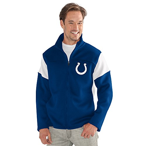 G-III Sports NFL Indianapolis Colts Adult Men Halftime Full Zip Jacket, Medium, Royal from G-III Sports