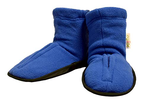 Yogibo Spa Style Aroma Slippers/Booties - Hot & Cold Lavender & Peppermint Aromatherapy - Microwave & Freezer Safe - Easy Slip on - Machine Washable Cover - M-L Purple ()