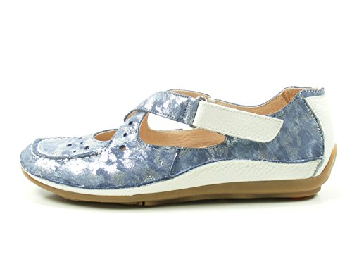 Softwaves Beauty Snake, Damen Ballerinas blu (Blue)