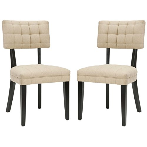 Safavieh Mercer Collection Mckenna Tufted Side Chairs, Beige, Set of 2