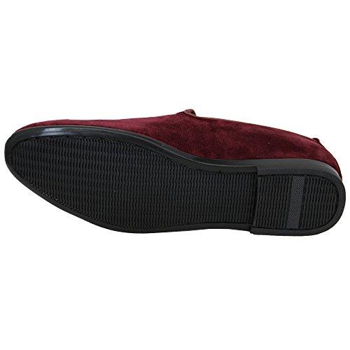 Uomo Stilista da Effetto Scarpe Slip Stile nappe Vitale On Mocassino G1616 Rosso Scamosciato Mocassini Italiano X5CEqwWx