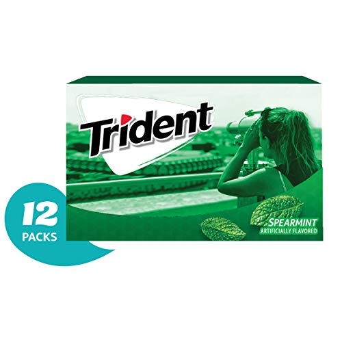 Trident Spearmint Flavor Sugar Free Gum-12 Packs (168 Pieces Total) Packaging May Vary