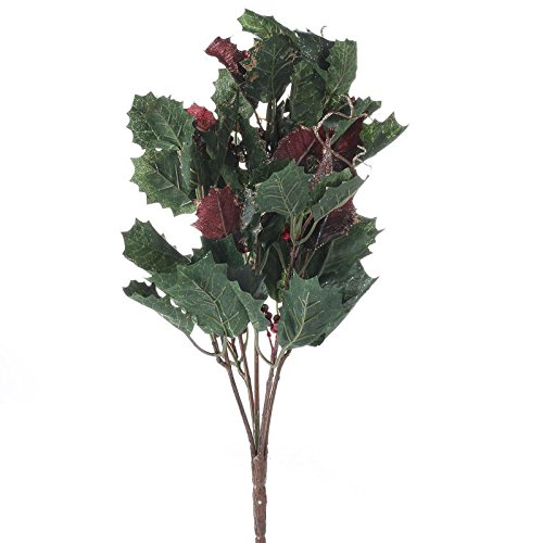 Factory Direct Craft Group of 4 Sparkling Artificial Holly Ivy Sprays for Home Decor, Crafting and Displaying