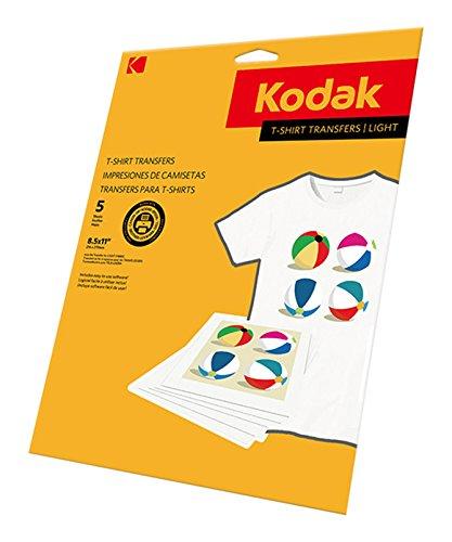 KODAK T-Shirt Transfers for Light Fabrics -8-1/2 x 11