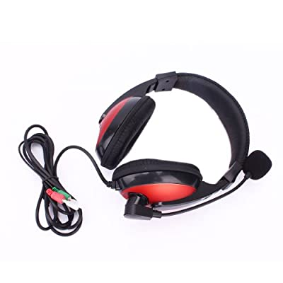 ZTDM Gaming Stereo Headset Headphone Pc with Microphone Red