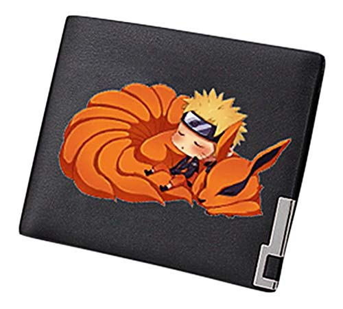 Gumstyle Men Naruto Anime Artificial Leather Wallet Billfold Money Clip Bifold Card Holder 7 (Naruto Wallets For Men)