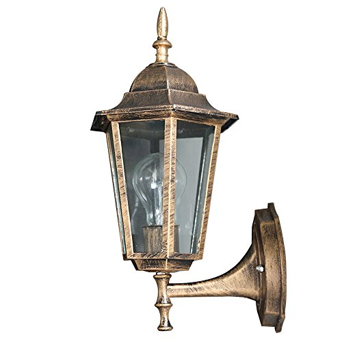 Pumpink 1-Light Exterior Wall Lantern European Villa Outdoor Waterproof Wall Sconce Lights Aluminum Home Outside Wall Lamp Classic Art Entrance Park Wall Hanging Fixtures with E27