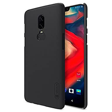 super popular a1aca cb55d Nillkin Oneplus 6 Case, Frosted Shield Easy Grip Anti-Slip Hard Case Back  Cover for Oneplus 6 (Black)