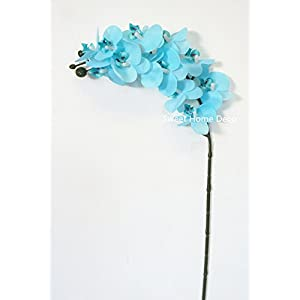 Sweet Home Deco 23'' Mini Latex Real Touch Phanaenopsis Orchid Spray (12 Flower Heads) (2, Light Blue) 84