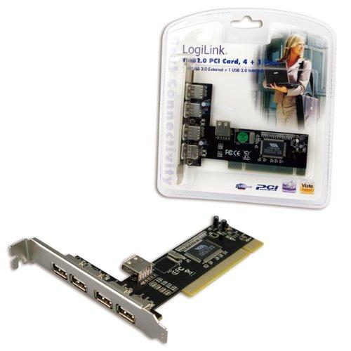 LogiLink PCI Schnittstellenkarte USB 2.0 4+1x