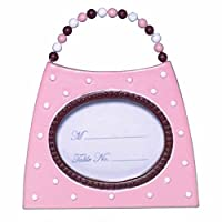 """Amscan Fashionable Wedding Pink Purse Place Card or Photo Holder Party Favor, Pink, 3.4"""" x 1.6"""""""