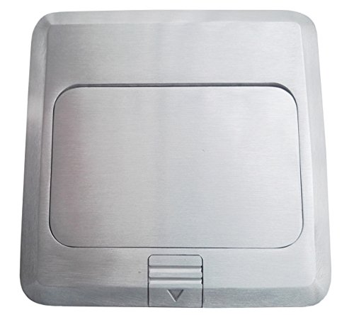 Pop Up Floor Box Countertop Box w/15A with Duplex Receptacle - Brushed-Stainless Finish by Supair (Image #2)