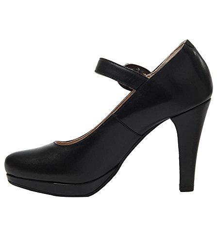 Stockerpoint 6010schwarznappa - Zapatos de vestir de Piel Lisa para mujer negro negro