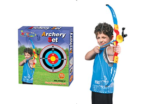 PowerTRC Toy Archery Bow And Arrow Set for Kids With Suction Cup Arrows And Target