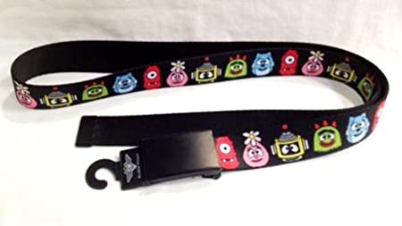 Fit kids and Adult 1.25 wide Yo Gabba Gabba Black Clamp Belt