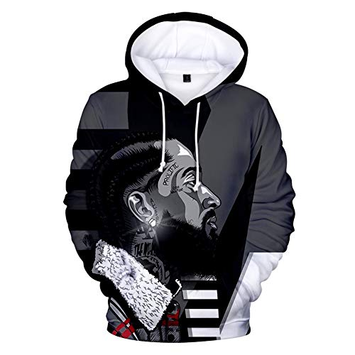 WYDWG Fashion Hoodies 3D Printed Rapper Music Hoodie Pullover Graphic Sweatshirts Hooded with Big Pockets Men