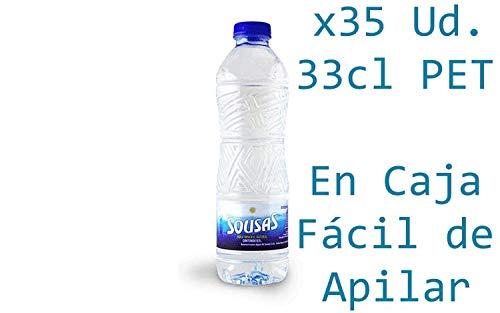 Caja de 35 Botellas de 0,5L de Sousas Agua Mineral Natural sin Gas - Total 17.5 Litros: Amazon.es: Alimentación y bebidas