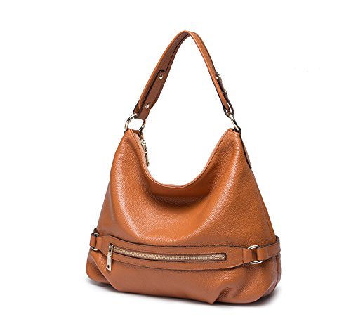 Hobo Mayshe Casual Womens Bags Handbag Brown Satchel Leather Genuine Crossbody Shoulder Style Tote and Purses w7FA7rqx