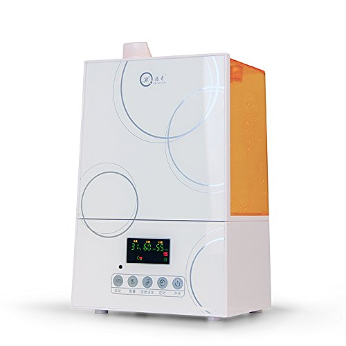 Jshq Humidifier Waterless Auto Shut-off Home quiet bedroom intelligent humidity humidifier air purification office large capacity remote control, white