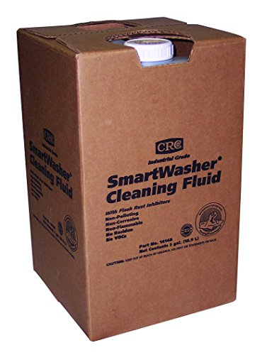CRC Smartwasher Industrial Grade Liquid Cleaning Solution, 5 Gallon Jug, Light Brown