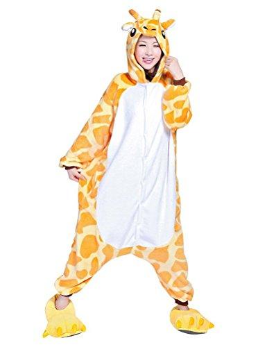 Arkind - Pijama-disfraz unisex para niños y adultos, diseño de animales jirafa