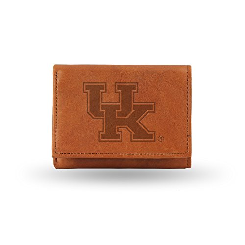 NCAA Kentucky Wildcats Embossed Genuine Leather Trifold Wallet (Wildcats Purse)