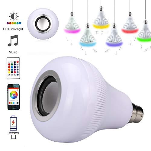 Fenstore アップグレードLED電球 リモコン付き 18W B22 LED RGBワイヤレス音楽再生スピーカー電球 ライトランプ 調光機能付き マルチカラー ディスコライト 16色 スマートフォン制御 LED家庭用電球 B07LF9PPCH