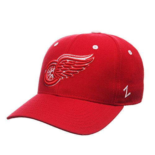 Zephyr NHL Detroit Red Wings Men's Power Play Fitted Hat, Size 6 7/8, Red
