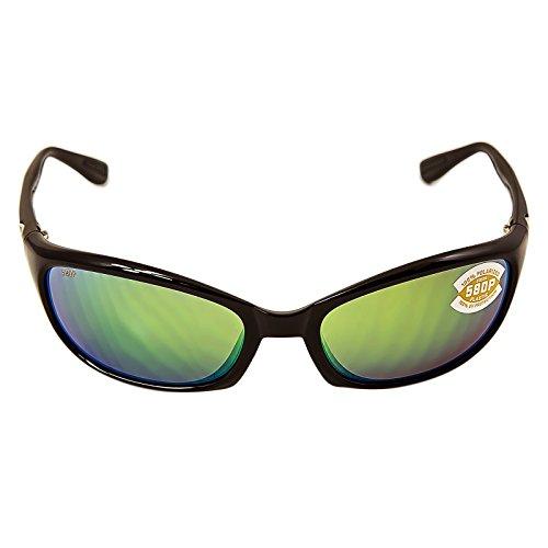 Costa Del Mar Harpoon Polarized Sunglasses Black Green Mirror