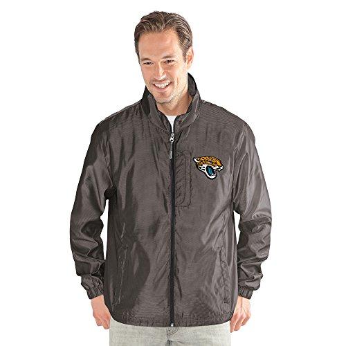 G-III Sports NFL Jacksonville Jaguars The Executive Full Zip Jacket, Medium, Charcoal Gray