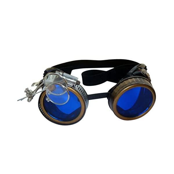 Handmade Steampunk Victorian Style Goggles with Vintage Filigree Decoration, Costume Novelty Accessory 4