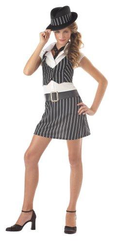 Gangster Girl Costume (California Costumes Girls Tween Mobsta Costume, X-Large (12-14))