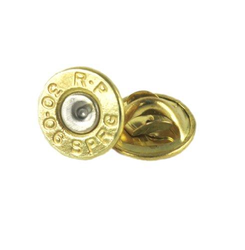 (30-06 Brass Bullet Tie Tac-Hat Pin)