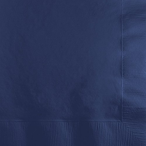 Creative Converting 801137B Paper Beverage Napkins Touch of Color, Navy