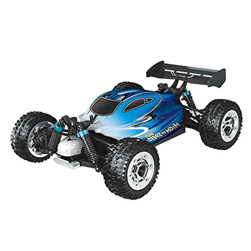 Pinjeer 55KM/H Violent Rapid Remote Control Car High-Speed Off-Road Vehicle Adult Toy Car RC Beautiful Fuel Dynamic Professional Racing Car Gift for Kids 8+ (Color : Blue, Size : 3-Battery)