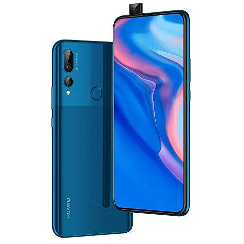 "Huawei Y9 Prime 2019 (128GB, 4GB RAM) 6.59"" Display, 3 AI Cameras, 4000mAh Battery, Dual SIM GSM Factory Unlocked - STK-LX3, US & Global 4G LTE International Model (Sapphire Blue, 128 GB) (Renewed)"