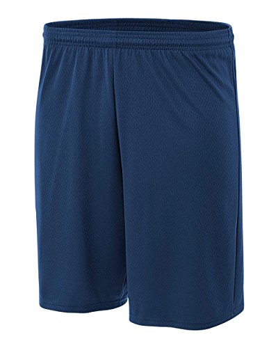 Pro Line Performance Mesh Youth Shorts (Navy, Small)
