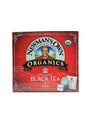 Newman's Own Organics Black Tea 100 Bags (Pack of 5)