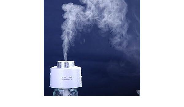 Humidificador, mini cargador USB redondo ultrasónico, color blanco, purificador de aire, aromaterapia, aceites esenciales, difusor para casa, oficina, dormitorio, spa ligera: Amazon.es: Salud y cuidado personal