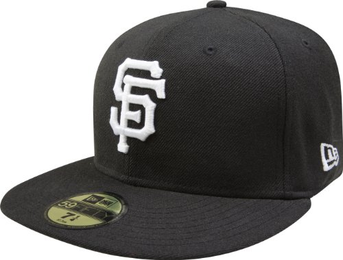 - New Era Men's 59FIFTY San Francisco Giants Black Hat 7 1/4