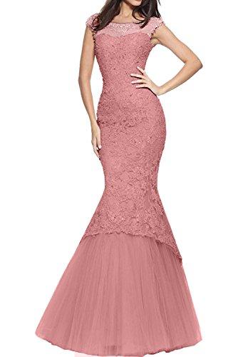 e37b8ebf5835 La mia Braut Rosa Damen Abendkleider Lang Meerjungfrau Kleider Ballkleid  mit Spitze Jugendweihe Kleider 2018 Neu Dunkel