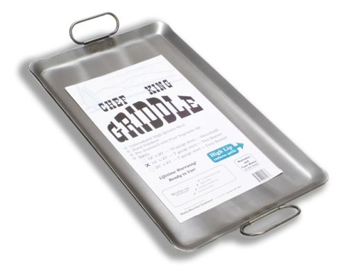 Chef King 7 Gauge Steel Griddle, 14 Inch x 23 Inch (Steel Stainless For Grill Griddle)