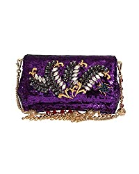 Sequined Crystal Clutch Bag